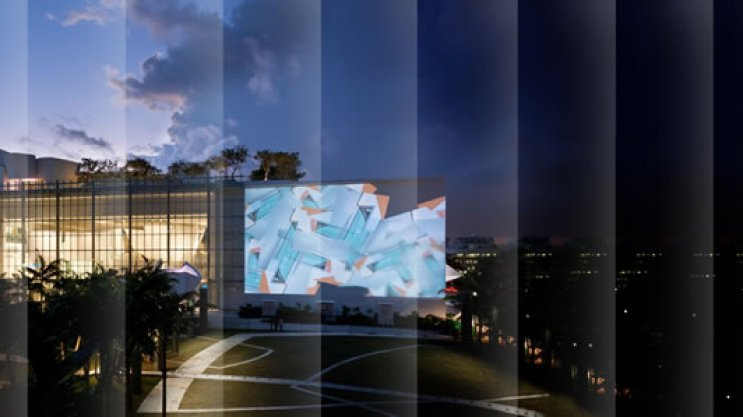 Watch Free Movies on the Miami Beach SoundScape's 7,000-Square-Foot Projection Wall