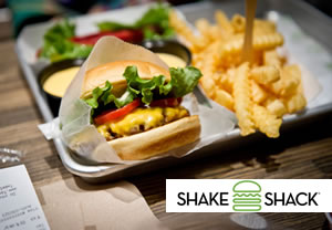Burger at Shake Shack