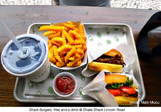Shack Burgers, fries and a drink @ Shake Shack Lincoln Road