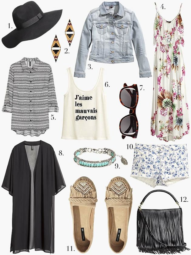 H&M FESTIVAL PACKING CHECKLIST