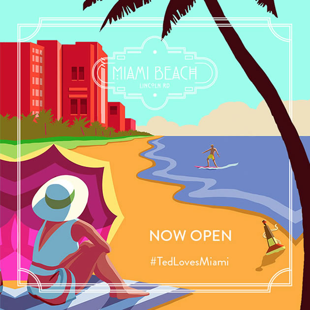 Ted baker London now open on Lincoln Road