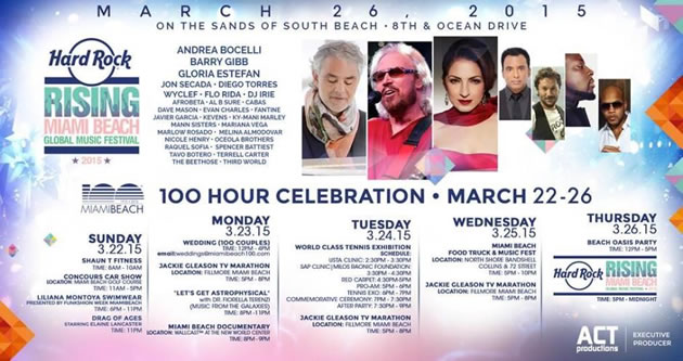 miami beach 100 year birthday party March 26, 2015